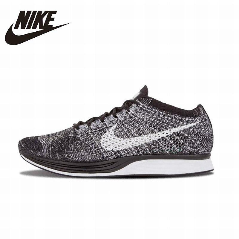 NIKE Flyknit Racer оригинальный Для мужчин s & Для женщин s кроссовки обувь очень легкие дышащие кроссовки для Обувь унисекс