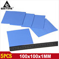 5 pieces Lot Blue 100mm x 100mm x 1mm 1mm Computer GPU CPU VGA Conductive Silicone Thermal Pad