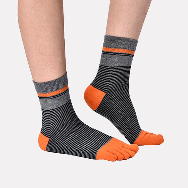 Men's Color Block Toe Socks
