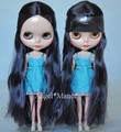 Nude Blyth Doll, black/gold hair, big eye doll,special price,For Girl's Gift,PJb002