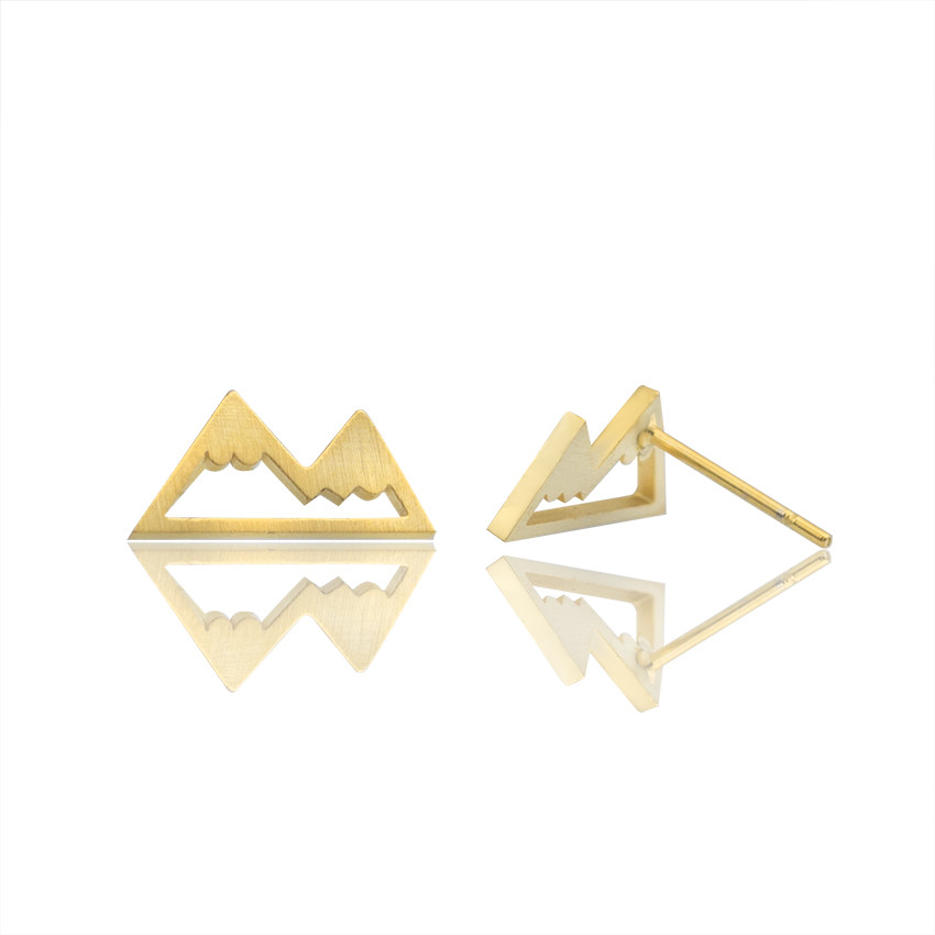 Stainless Steel Tiny Mountain Earrings Fashion Jewelry Women Brinco Bff Ear Cartilage Earrings Bridesmaid Wedding Gift