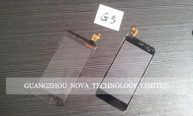 Para jiayu G5 Tela de Toque Digitador de Vidro Da Lente de Substituição + 3 M Adesivo Com rastreamento