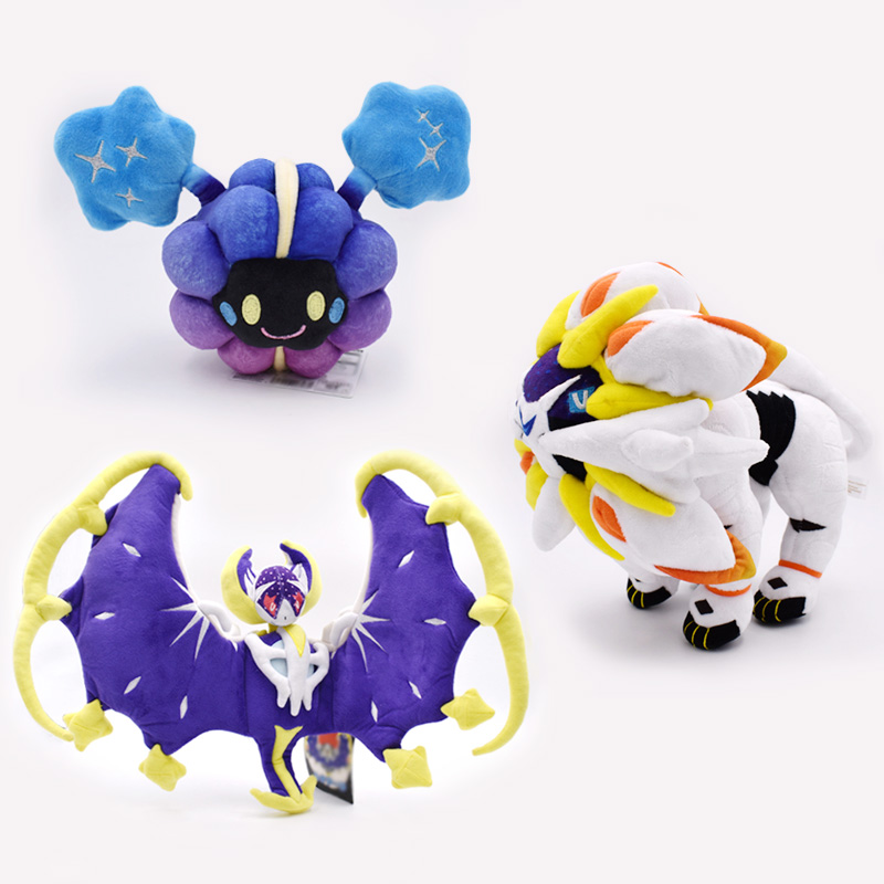3 Styles/lot Cute Cosmog Solgaleo Sun & Moon Lunala Plush Toys Doll For Kid's Birthday Gifts Anime Soft Free Shipping