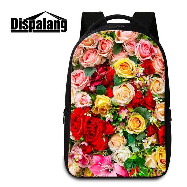 Dispalang Women Laptop Backpacks Flower Printing Ladies Notebook Backpack  Large School Bags For Teenagers Girls Schoolbag 4eb5358904c9f