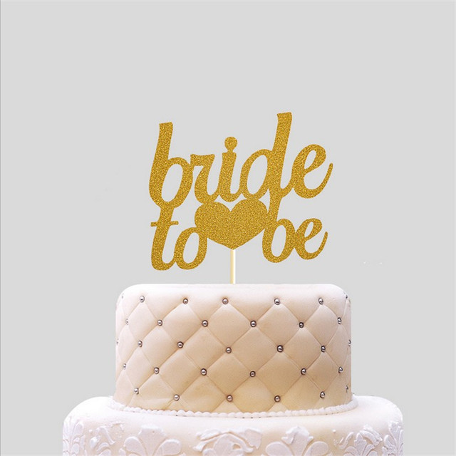 Online Shop 10Pcs Creative Gold Bride To Be Wedding Cake Topper Topo ...
