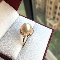 Вечная Свадебная Для женщин подарок Слово стерлингового серебра 925 Настоящее Тайху жемчужина кольцо Круглый к свету