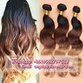 Slove Rosa Hair 7A Grade Ombre Brazilian Virgin Hair Body Wave Ombre Hair Extensions 3 Bundles Hair Weaves Free Shipping Hot