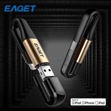 Eaget USB Flash Drives 64GB 128GB USB 3.0 Charging Memory Flash Drive USB Stick Pen Drive Multi Pendrive For IPhone Laptop I90