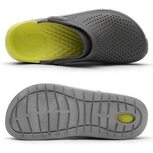 Image 2 - Summer Beach Shoes Woman Outdoor Slippers Breathable Sandals Men Antiskid Slides Couples Flip Flops Slip on Crocse Zapatillas