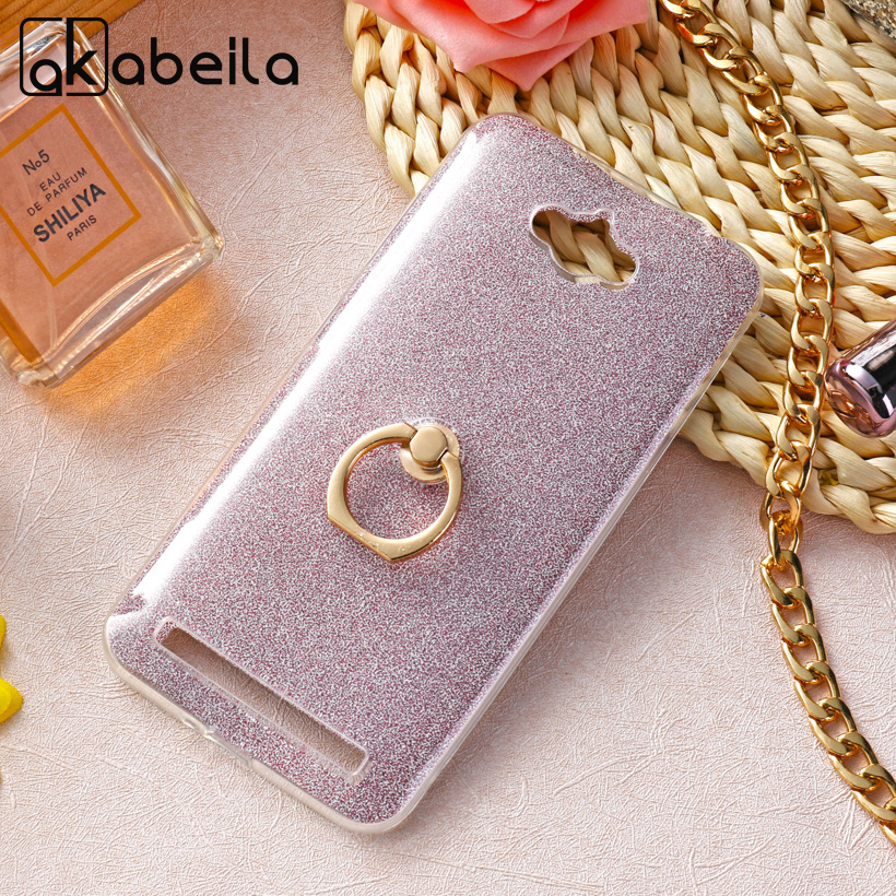 AKABEILA Case For <font><b>ASUS</b></font> Zenfone MAX <font><b>ASUS</b></font>_Z010DD <font><b>Z010D</b></font> ZC550KL Z010DA Soft TPU Cover Luxury Finger Ring Glitter Back Case image