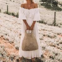2019 Celmia Oversized Women Long Dress Summer Sexy Off Shoulder Swing Party Beach Dress Solid Casual Ruffle Maxi Vestidos Robe