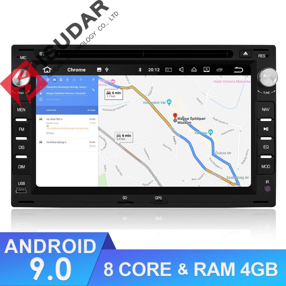 9 2 Isudar Reprodutor multimídia Carro Android Din Sistema De Som Para VW/Volkswagen/Passat/Golf/Skoda octa Núcleo 4 GB RAM Wifi USB DVD