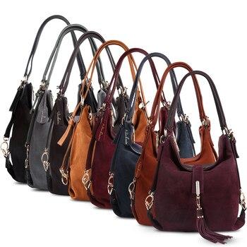 Nico Louise Suede Leather Shoulder Bag  5