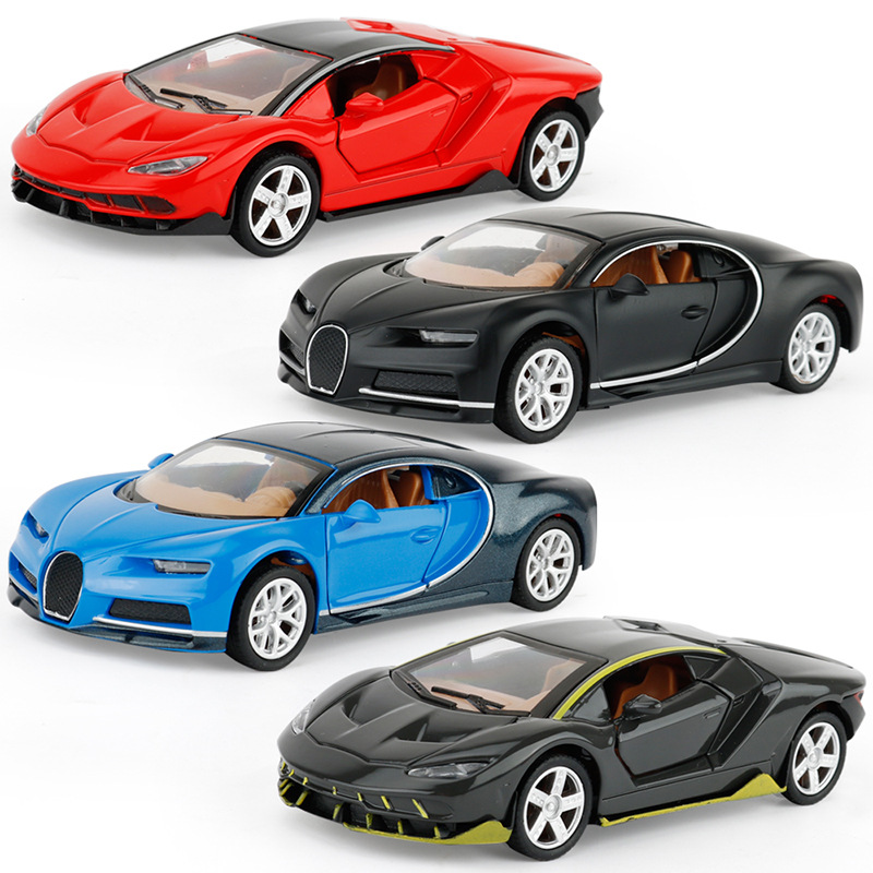 4 Colors Alloy Car 1:36 Supercar Model Toy Car Simulation Of The Return Of The Car Baking Decorations Gift For The Children
