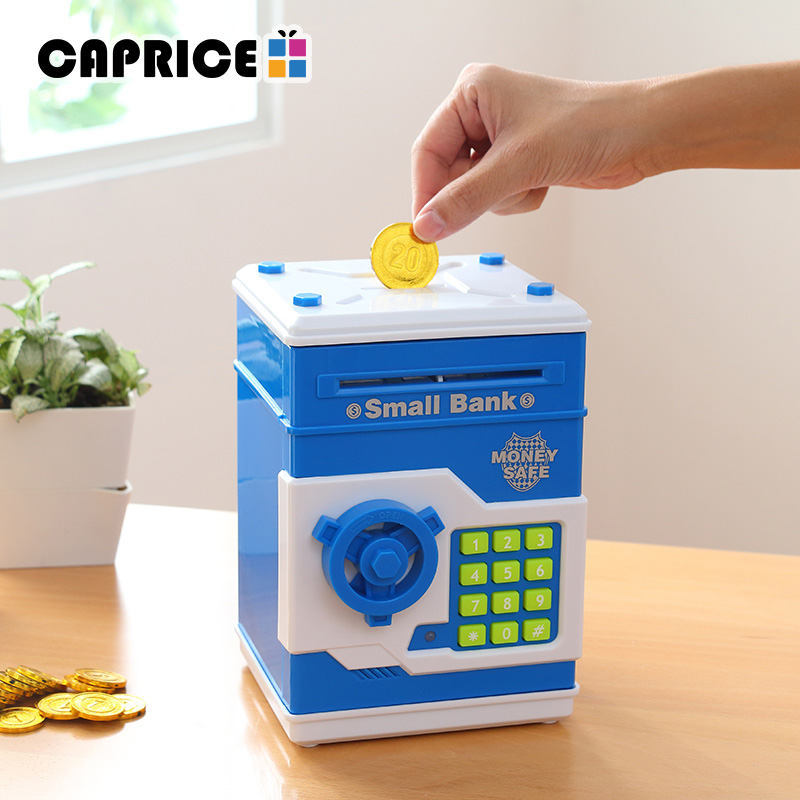 Safety Electronic Piggy Bank Code Digital Coins Cash Deposit Money Box Secret Mini ATM Machine Children Christmas Present LF688