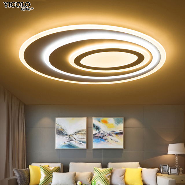Dimming Led Ceiling Lights Remote Control Modern For Living Room Bedroom Oval Shape 5 Sizechose New