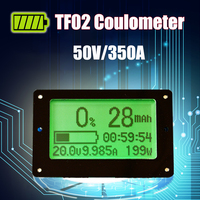 TF02 50V 350A Universal Battery Capacity Tester Voltage Current Indicator Panel Coulomb Meter Coulometer