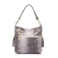 Женская кожаная сумка из натуральной змеиной кожи, сумка ведро, Наклонная Сумка, роскошные сумки для женщин известных брендов, дизайнерские