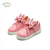 2018 New Children S Shoes Casual Shoes Students Children S Shoes Princess Cute Rabbit Ears Large