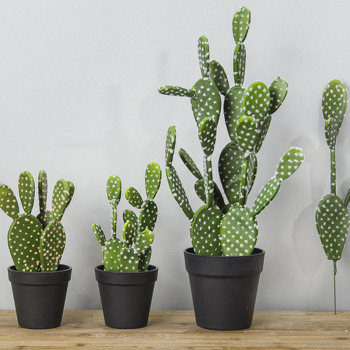 1PCS artificial tropical cactus plant green simulation plant decoration shop window table accessories wedding home office decor Artificial Plants Departments