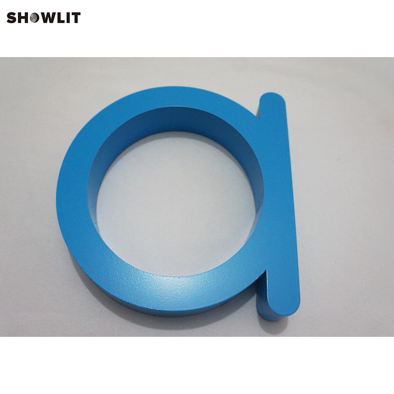 Blue Painted Stainless Steel House Numbers and Letters for Company Sign no lighting black mailbox numbers and letters