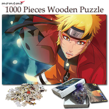 MOMEMO 1000 Pieces Cartoon Puzzle Wooden Jigsaw Puzzles for Adults Naruto Uzumaki Anime Games Kids Toys Gift