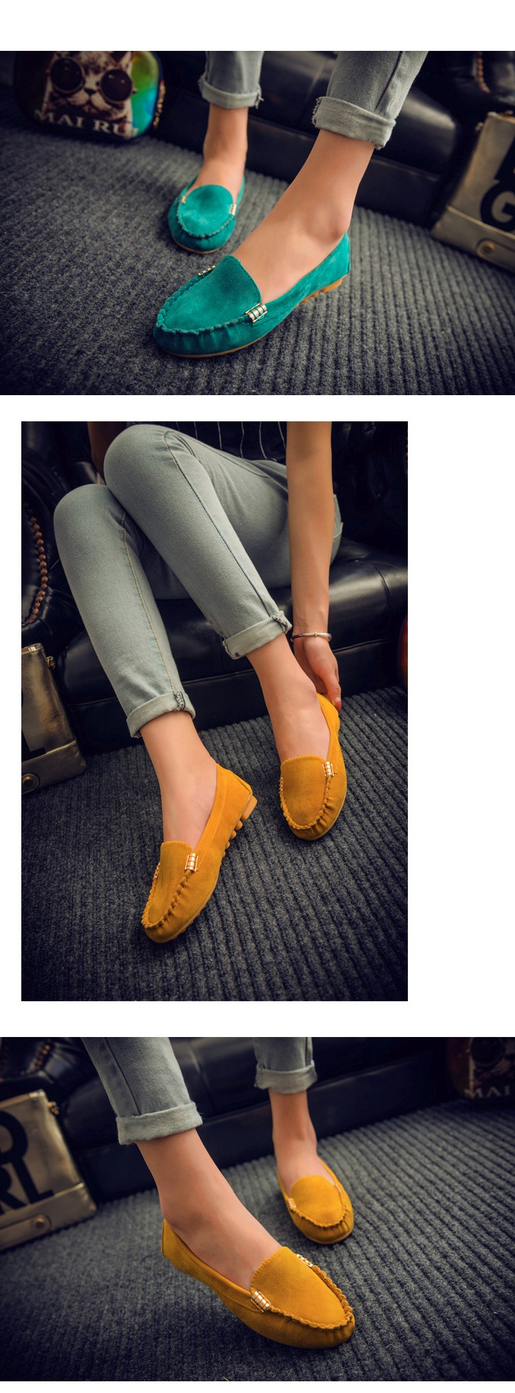 Hot Sale 2016 Summer Woman Flats New Fashion Pure Color Wild Concise Flat Casual Shoes Round Toe Comfortable Female Shoes DT81 (4)