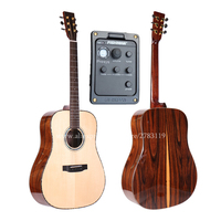 Professional Solid Folk Guitar,41 Solid Spruce Top/Santos Rosewood Body, guitars china,Gloss (video)