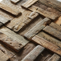 ancient ship wood tile mosaic pattern, rustic style wall decor home improvement fireplace mosaic tiles bar wall decor