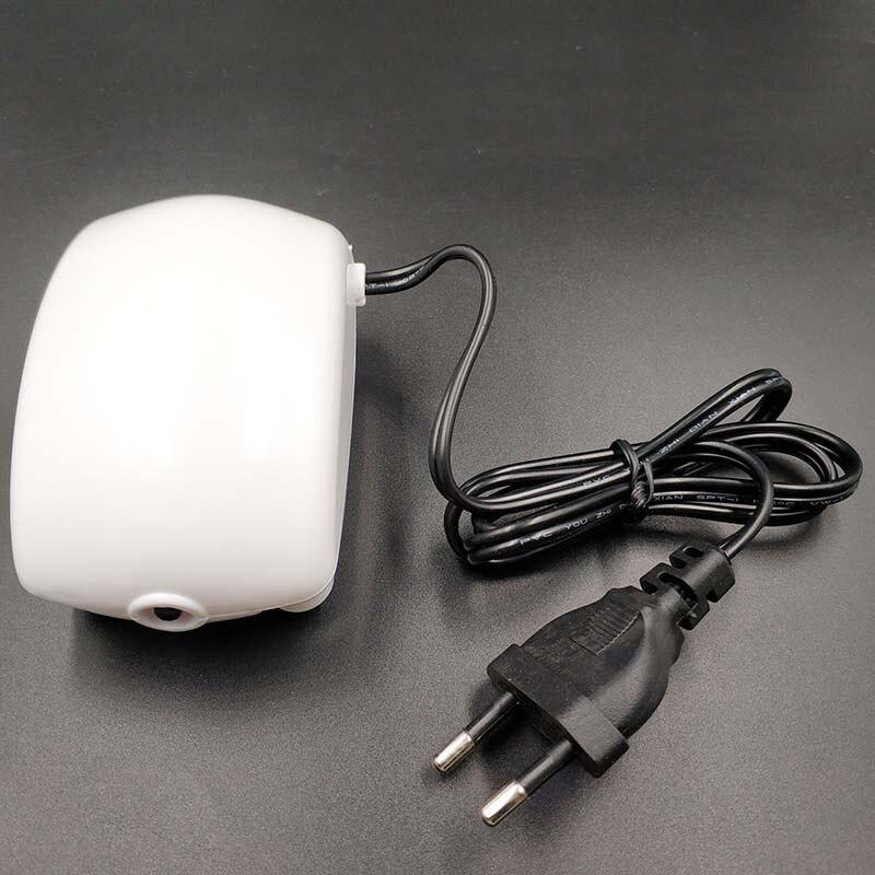 Pompe à oxygène daquarium 2.5W EU   Pompe à oxygène daquarium efficace et à faible bruit, réservoir de poisson silencieux, petite pompe à aération