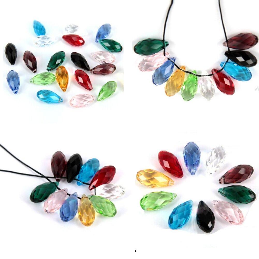 10pcs/ set! Briolette Pendant Waterdrop Austrian crystal beads 6*12mm Teardrop glass beads for jewelry making bracelet DIY