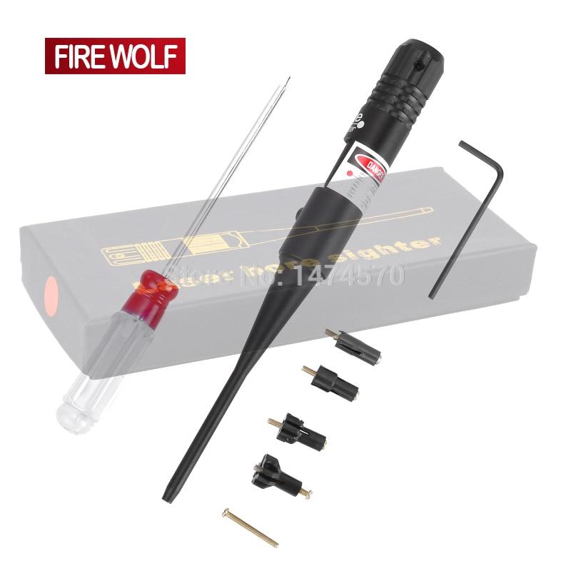 FUOCO LUPO Tactical Red Dot Laser Bore Sighter Laser Scope 0.22-0.50 cinque Caliber Rifle Nuovo Stile Batteria Vista