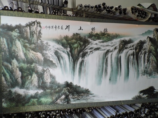 3,5 meter Große RIESIGE TOP ausländischen business geschenk Hause SHOP WAND Dekorative FENG SHUI kunst chinesische Landschaft malerei arbeit - 2