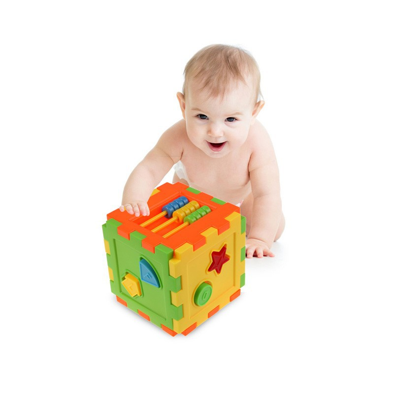 Baby Block Toy Box : Baby colorful block toy bricks matching blocks kids