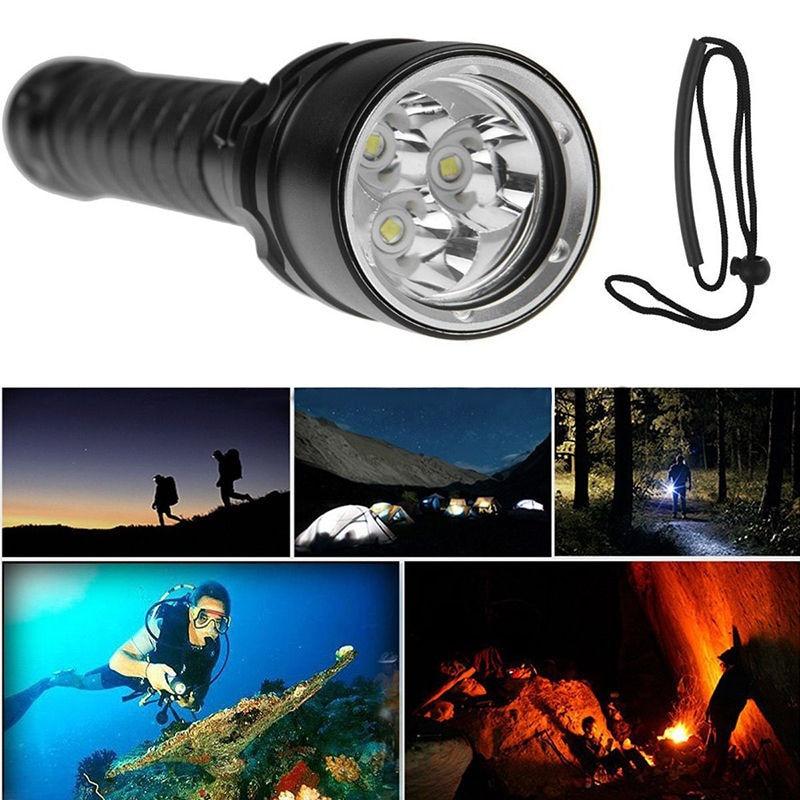 8000LM 3x XML L2 LED Scuba Diving Underwater 100M Flashlight Torch Waterproof sitemap 14 xml