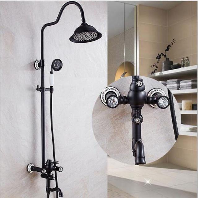 Luxus Hohe Qualitat Bad Schwarz Ol Brushed Regen Dusche Set Antiken