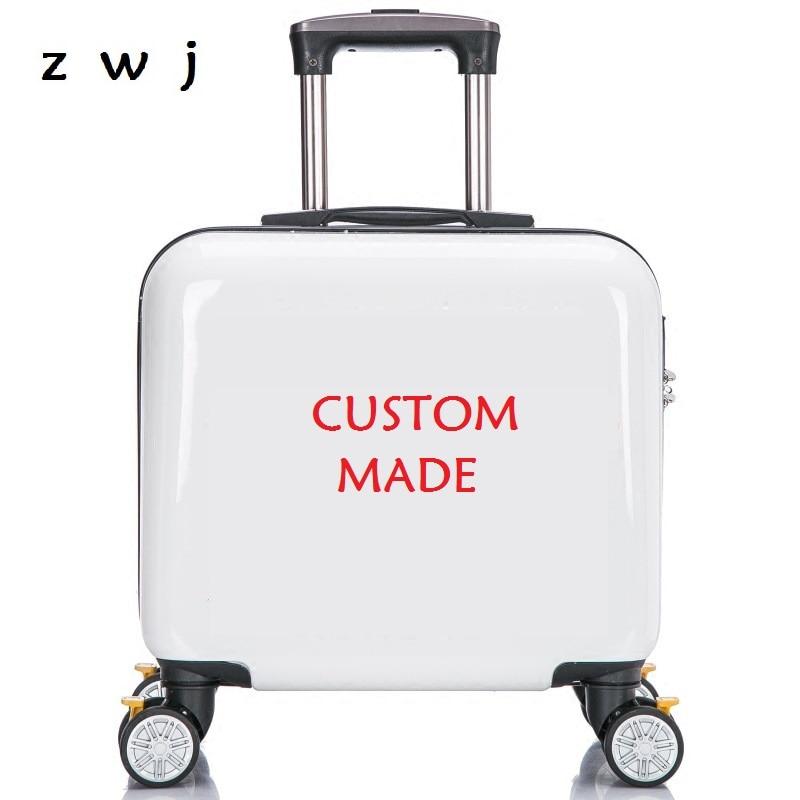 Custom made luggage cartoon trolley carry-ons suitcases universal wheel custom patterns luggage                                 Custom made luggage cartoon trolley carry-ons suitcases universal wheel custom patterns luggage