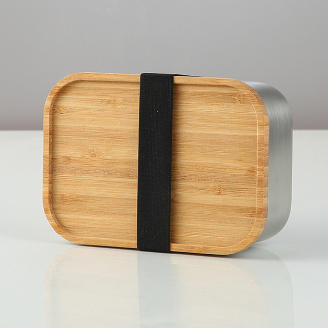 Planet Friendly Portable Stainless Steel & Bamboo Lunch Box