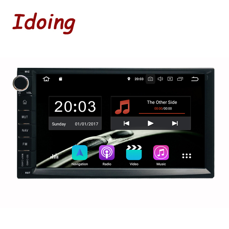 Idoing 4 GB + 2Din 32 Direcção G-Roda Universal Android 9.0 Rádio Car Multimedia Player GPS Glonass Embutido 1024*600 PX5 TDA7850