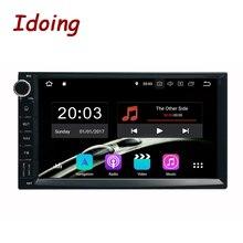 Idoing 4 GB + 32G Руль Универсальный 2Din Android 9,0 автомобильный Радио мультимедийный плеер gps Встроенный ГЛОНАСС 1024*600 PX5 TDA7850
