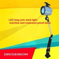 24 pçs/lote Alta qulity JL50F Máquina Ferramenta À Prova D' Água à prova de Explosão Lâmpada LED longo Braço Dobrável Lâmpada de Trabalho 24 v/36 v/110 v/220 v 12 w|Iluminação Industrial| |  -