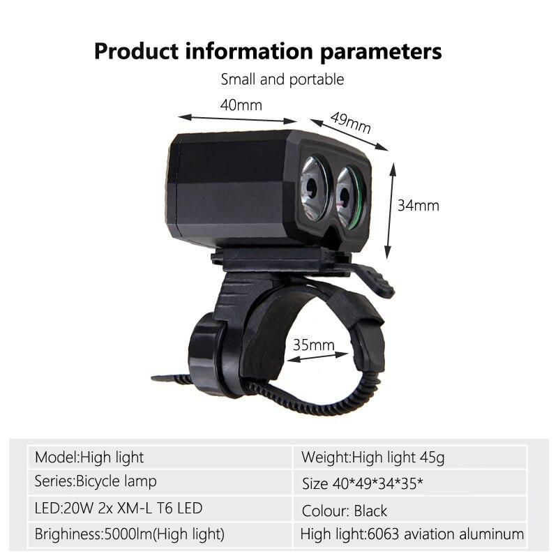 Водонепроницаемый USB Перезаряжаемые свет 2X XM-L T6 светодиодный велосипед фары 5 режимов Велоспорт лампы Встроенный Батарея факел