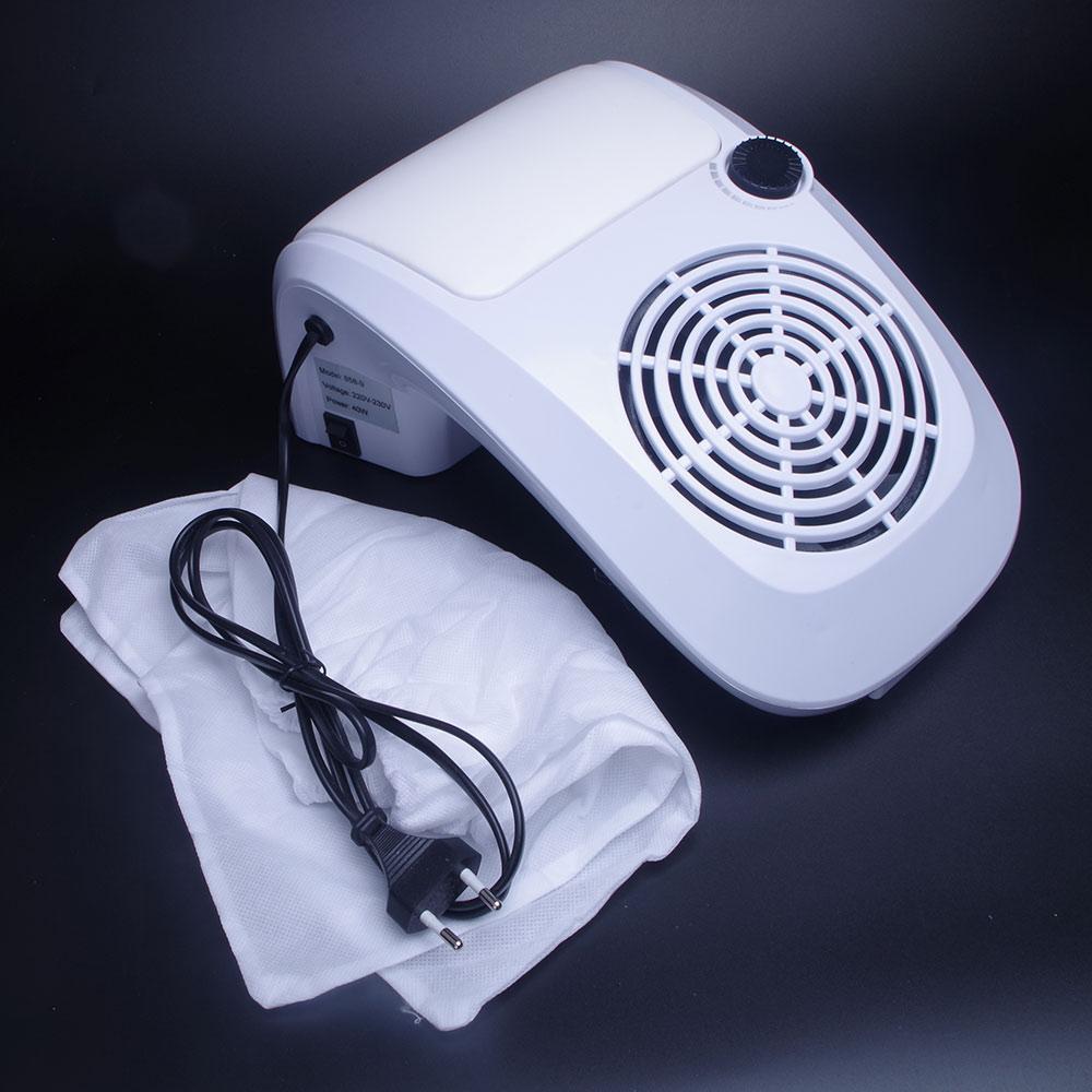 40 Вт сильный Nail Art всасывания пылесборник 110 В/220 В с нами/ЕС Plug салон ногтей пылесос для подачи акриловые УФ гель Совет