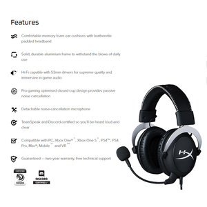 Image 2 - Kingston Gaming Headset HyperX Cloud Core Headphones With a microphone Hi Fi Auriculares For PC PS4 Xbox Mobile devices