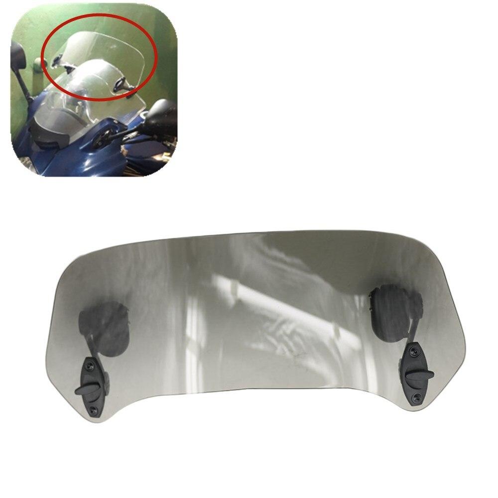 Transparent Smoke Risen Adjustable Wind Screen Windshield Spoiler Air Deflector for Honda BMW F800 R1200GS KAWASAKI