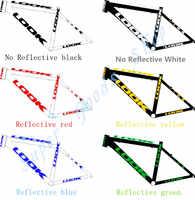 Calcomanía de Marco reflectante para bicicleta de carretera bicicleta de montaña protector pegatina bicicleta rueda horquilla bicicleta accesorios pegatinas