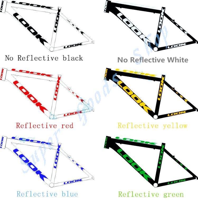Quadro reflexivo decalque para bicicleta de estrada mountain bike ciclismo protetor adesivo bicicleta roda garfo acessórios da bicicleta adesivos