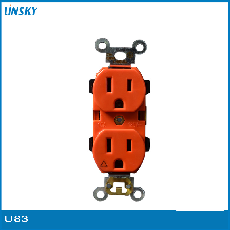 popular double outlet buy cheap double outlet lots from orange isolated ground double outlet receptacle hospital industry mainland