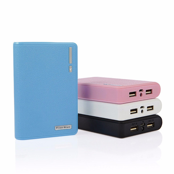 free shipping high capacity dual usb led torch power bank 10400mah original for xiaomi and tablet