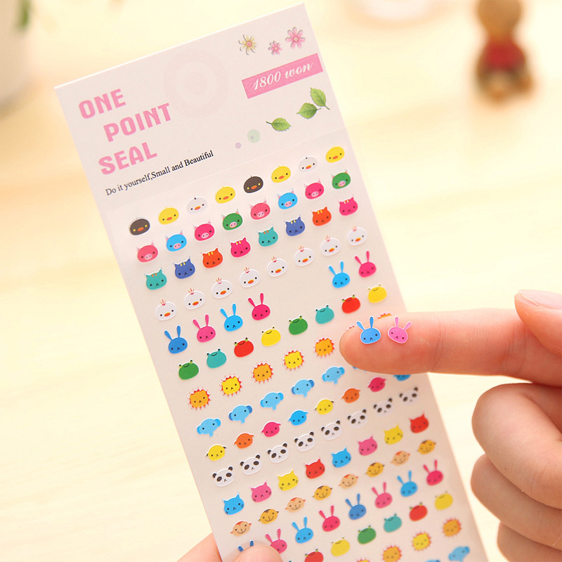 8 Style Cartoon Stickers DIY Cute Children Pegatinas Classic Toys Diary Planner Sticker Girls Kids Birthday Gift On The Phone